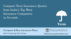 Compare and buy Term Insurance online | PolicyMantra