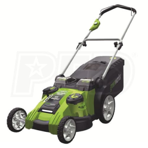 "Greenworks (20"") G-Max Twin Force 40-Volt Cordless Dual Blade 2-In-1 Lawn Mower"