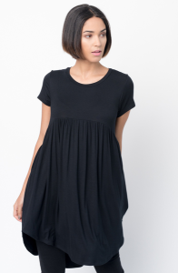 Shop for Tee tunic dress u neck and a full skirt  Online - $44 - on caralase.com