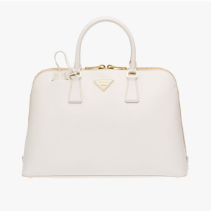 Prada 1BA812 Leather Top-Handle Bag In White