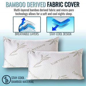 Queen Size Bamboo Memory Foam Pillow