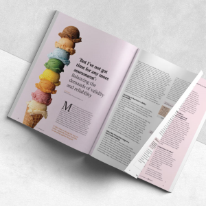 Editorial design for Impact journal for the CCT