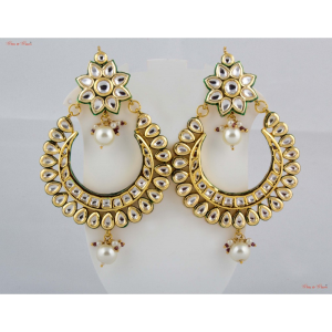 Earrings - Crafted with kundan