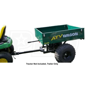 ATV Wagon 15 Cubic Foot Steel Dump Trailer (Green)