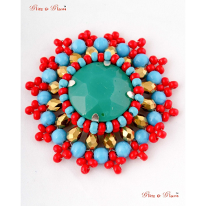Fashion Brooches - Multicoloured stoned