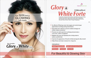 Glory and White forte whitening cream