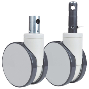 Twin wheels central lock casters