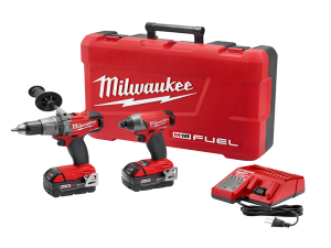 cheap drills and power tools for sale Milwaukee 2897-22 M18 FUEL Cordless Li-Ion 2-Tool Combo Kit