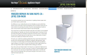 FREEZER REPAIR IN VAN NUYS CA