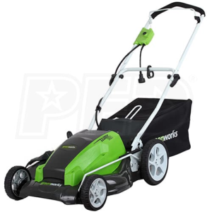 "Greenworks (21"") 13-Amp Electric 3-In-1 Lawn Mower"