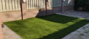 Artificial turf laying in Derby