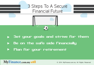 3 STEPS TO A SECURE FINANCIAL FUTURE