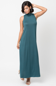 Shop for Sleeveless Turtleneck Collar Mock Neck Maxi dress online on caralase.com