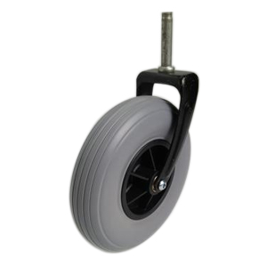 wheelchair front wheels with steel fork