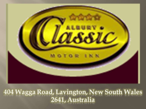 Looking For Accommodation In Albury? Then Give The Albury Classic Motor Inn A Call Now!