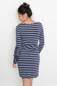 navy striped dresses