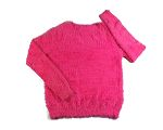womens crew neck sweaters 2015 fall plain jersey pullover sweater pink feather yarn knitwear