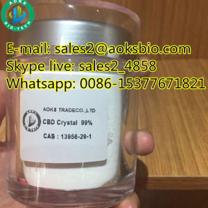 Hemp flowers cbd 99% flower extract isolate crystal powder packaging, CAS NO 13956-29-1  99 pure ca