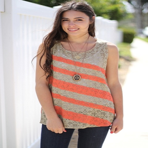 striped tank top for women