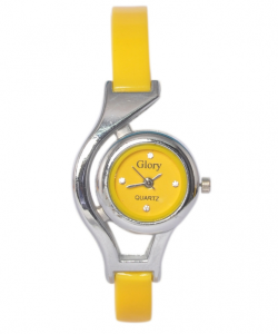 online shopping india -Glory Yellow Analog Fancy Watch For Women