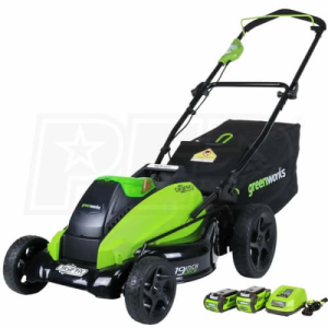 "Greenworks (19"") G-Max DigiPro Brushless 40-Volt Lithium-Ion Cordless Lawn Mower"