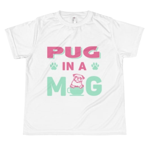 Pug in a Mug ~ All-over youth sublimation T-shirt