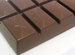 Dark chocolate slab