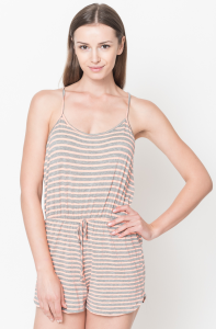 striped rompers orange