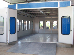 Bus Paint Spray Booths By Brick Making Machine