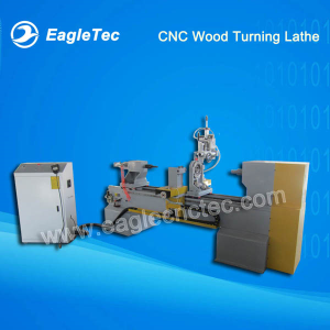 CNC Wood Turning Lathe Machine with One Axis Two Blades and Gymbals Spindle