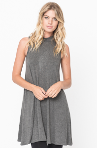 high neck tunic
