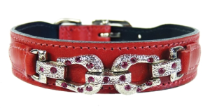 After Eight Collection Dog Collar - Ferrari Red
