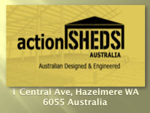 Action Sheds Australia Cyclonic Rated Sheds to suit your application