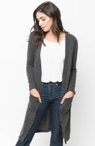 Buy Brushed Maxi Button Cardigan Online $10