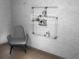 OXFORD WALL-MOUNTED GLASS SHELF