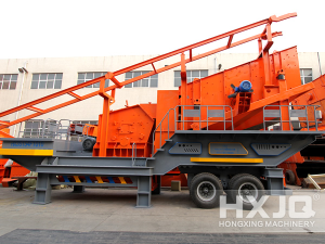 Aggregate and Concrete Mobile Impact Stone Crusher