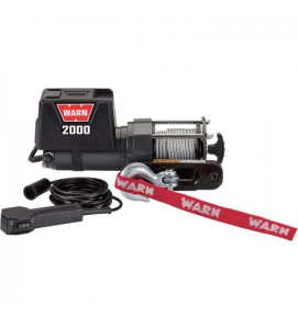 WARN 12 Volt DC Powered Electric Utility Winch_2000Lb. Capacity_Galvanized Steel Rope_Model 92000