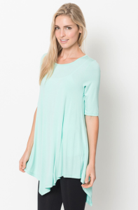 Quarter sleeve tunic tops for women