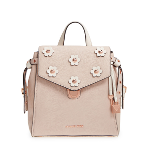 MICHAEL Michael Kors Bristol Small Floral Applique Leather Backpack Pink