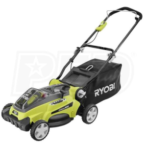 "Ryobi (16"") 40-Volt Lithium-Ion Cordless Walk-Behind Lawn Mower (With 2 Batteries)"