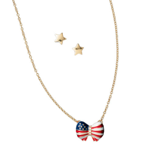 Today Only: SAVE 63% off Patriotic Bow Necklace