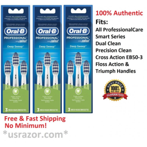 9 Braun Oral B Deep Sweep Tooth Brush HeadsToothbrush EB30-3