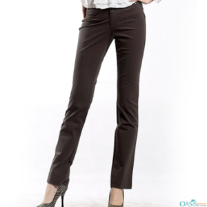 Brown Slim Fit Ladies Corporate Clothing Pants Suppliers USA