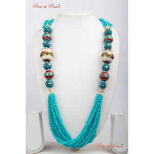 Necklaces With Blues layered neck piece