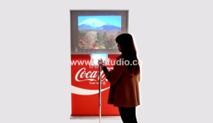 Roll up banner with video screen