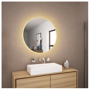 Tiemeyer Crystal Oval Backlit LED Bathroom Mirror