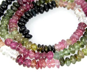 Faceted Tourmaline Gemstone Beads