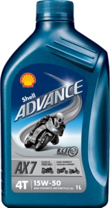Aceite Shell Advance 4T AX7