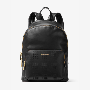 MICHAEL Michael Kors Wythe Large Perforated Leather Backpack Black