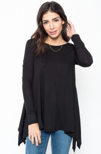 Buy Now Ribbed Side Peplum Tunic Online $20 -@caralase.com
